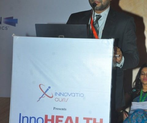 Gallery page - Dr. Bishal Dhakal at InnoHEALTH 2016