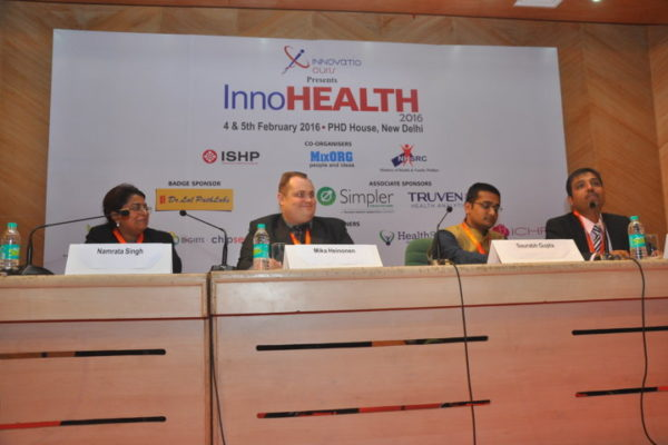 Gallery page - Panel Discussion on Learning from emerging and developed economies - in progress at InnoHEALTH 2016