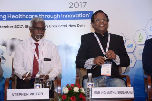 Stephen Victor and Eur Ing Muthu Singaram participating in session 3 at InnoHEALTH 2017