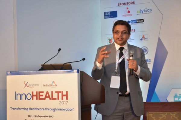 Deepak Mittal sharing his views on Challenges & Redefining Healthcare Landscape at InnoHEALTH 2017