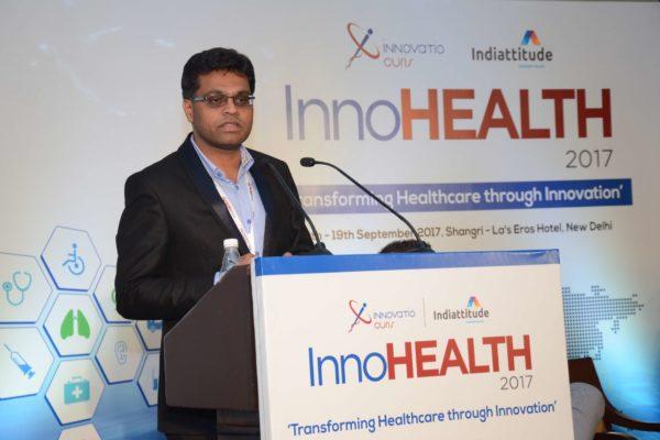 Pavan Asalapuram sharing his views on Diagnostics of Tomorrow at InnoHEALTH 2017