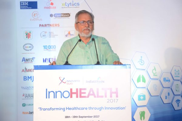 Dr Anil Kumar Gupta addressing the audience in inaugural session at InnoHEALTH 2017