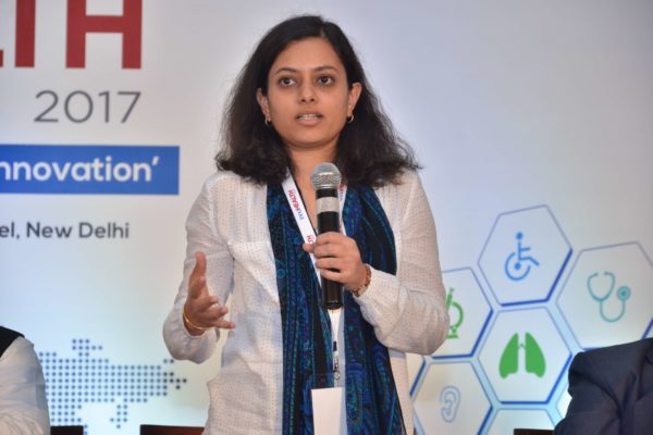 Dr Anjana Batni sharing her views on Session 6 Innovations in the Pharma sector at InnoHEALTH 2017
