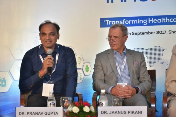 Dr Pranav Kumar Gupta and Dr Jaanus Pikani share the stage as panellists of session 4 at InnoHEALTH 2017