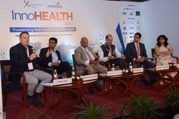 Panel Discussion of session 2 in progress at InnoHEALTH 2017