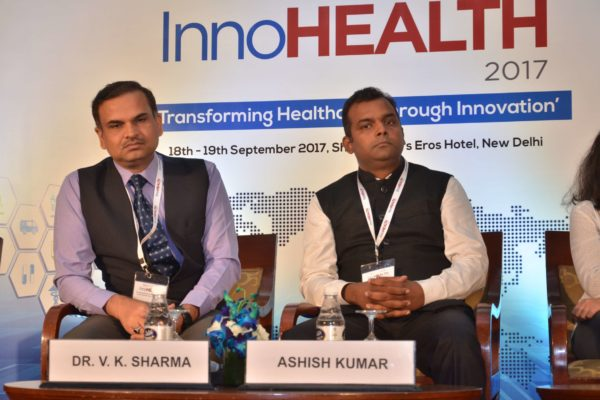 Dr V K Sharma and Ashish Kumar - Panellists of session 5 at InnoHEALTH 2017