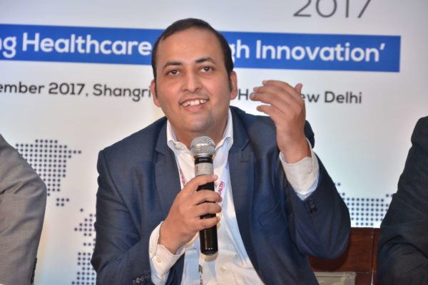 Sachin Gaur sharing his views on Challenges & Redefining Healthcare Landscape at InnoHEALTH 2017
