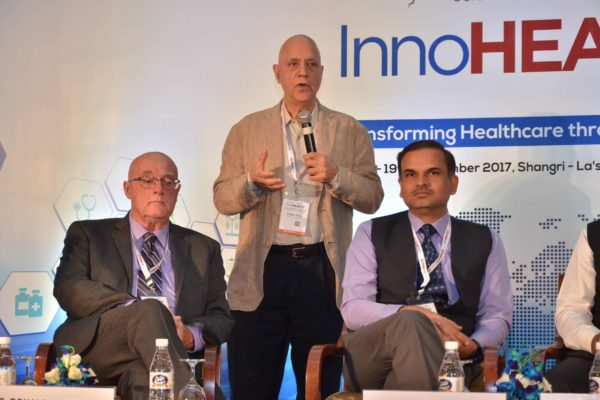 Dr Shiban Ganju sharing his views on Session 6 Innovations in the Pharma sector at InnoHEALTH 2017
