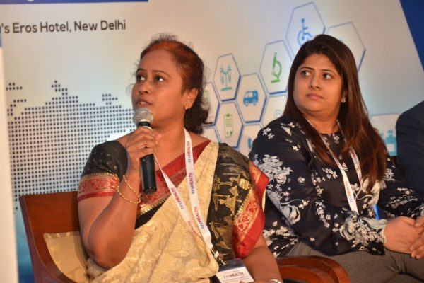 Sharda Balaji sharing her views in session 9 at InnoHEALTH 2017