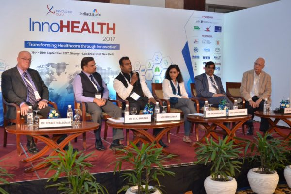 Panel discussion of session 5 in progress at InnoHEALTH 2017