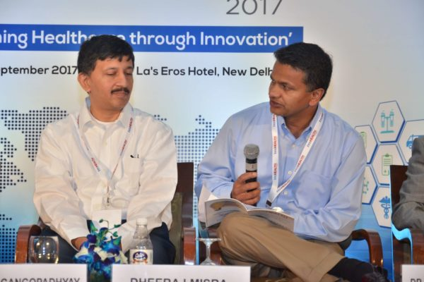 Sandipan Gangopadhyay and Dheeraj Misra in session 7 at InnoHEALTH 2017