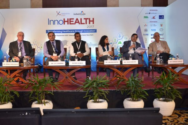 Panel discussion of session 6 in progress at InnoHEALTH 2017