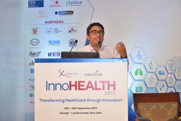Dr Sanjay Sharma sharing his views on Challenges & Redefining Healthcare Landscape at InnoHEALTH 2017