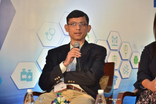 Kausik Bhattacharyya sharing his views on Digital Health giving birth to new delivery models and fostering innovations at InnoHEALTH 2017