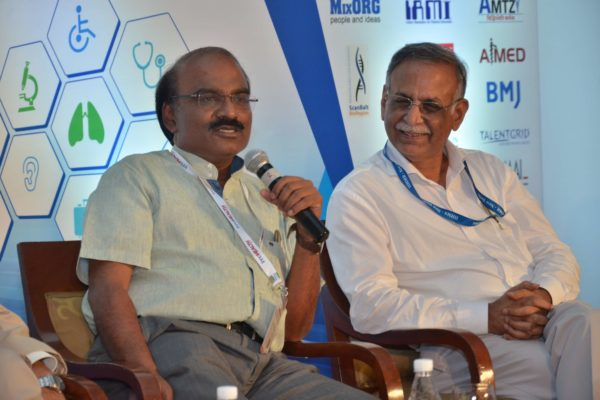 Dr D Prabhakaran interacting with the audience at InnoHEALTH 2017