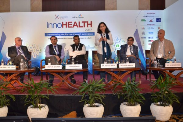Panel discussion of session 6 on Innovations in Pharma sector in progress at InnoHEALTH 2017