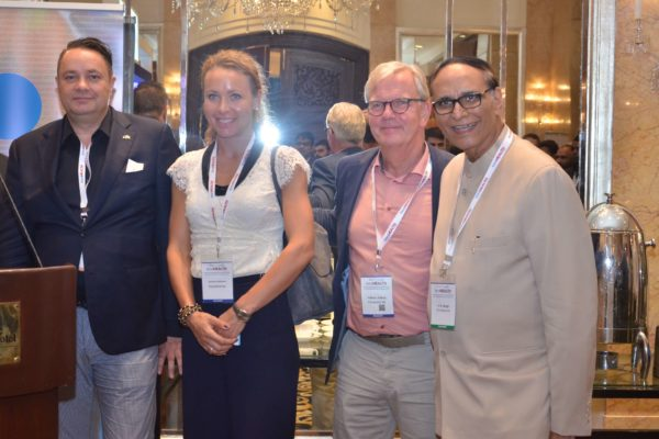 Pieter Spee, Caroline Danielson, Hakan Jideus and Dr V K Singh at the B2B meeting of InnoHEALTH 2017