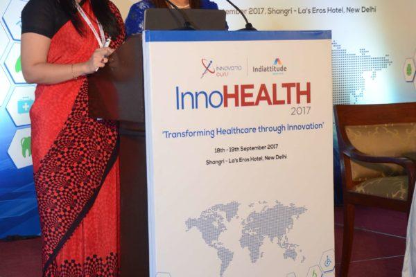 Avantika Batish and Nimisha Singh - Masters of ceremonies hosting InnoHEALTH 2017
