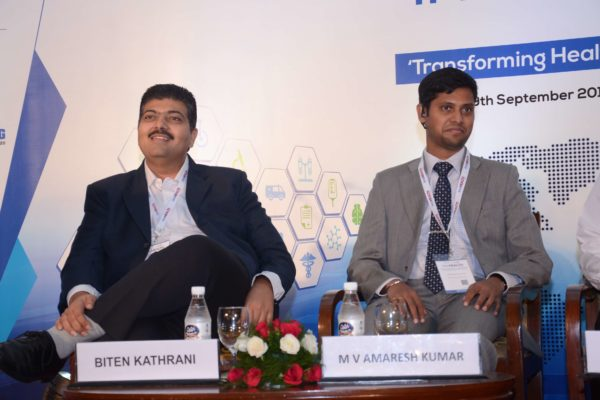 Biten Kathrani and Amaresh Kumar participate as panellists of session 3 at InnoHEALTH 2017