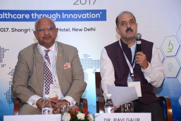 Brig(Hony) Dr Arvind Lal and Dr Ravi Gaur in session 2 at InnoHEALTH 2017