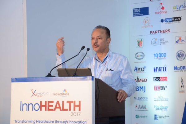 Dr A K Gupta speaking in session 1 at InnoHEALTH 2017