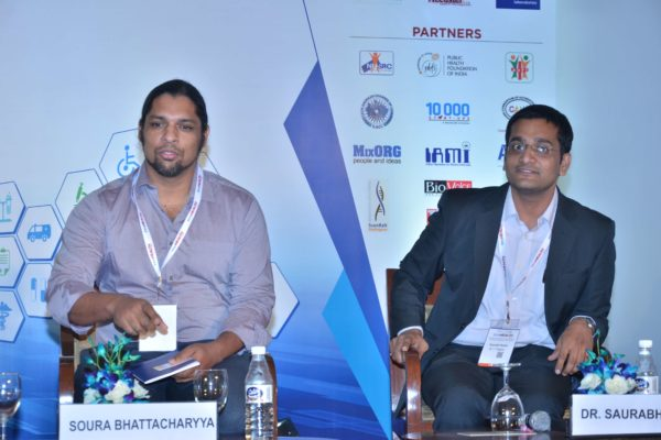 Soura Bhattacharrya and Saurabh Gupta as jury of Young Innovator award at InnoHEALTH 2017