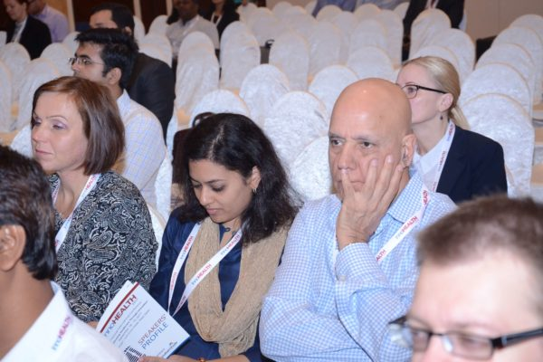 Katja from Turku University of Applied Sciences, Dr Anjana Batni and Dr Shiban Ganju from Atrimed Pharmaceuticals in the audience at InnoHEALTH 2017