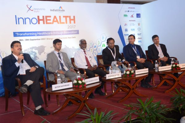 Panel discussion of session 3 at InnoHEALTH 2017 in progress
