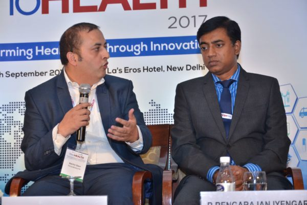Sachin Gaur and Rengarajan Iyengar - Panellists of session 8 at InnoHEALTH 2017