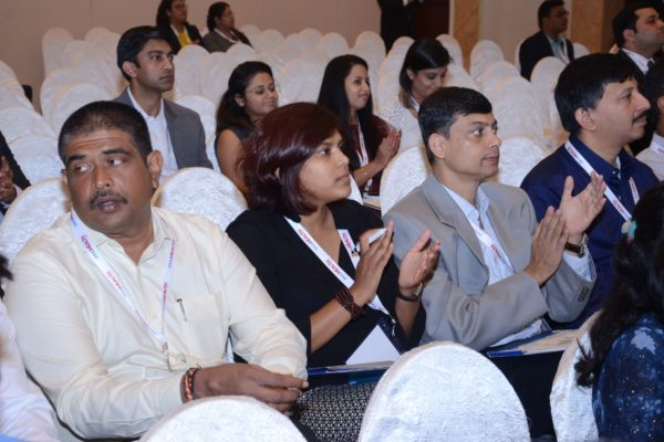 Sandipan Gangopadhyay, Kausik Bhattacharrya and team GalaXe in the audience at InnoHEALTH 2017
