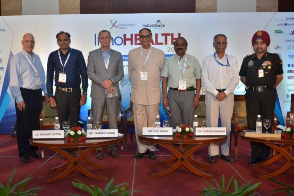 Group photo of panel of session 4 on Public Health and Biotech