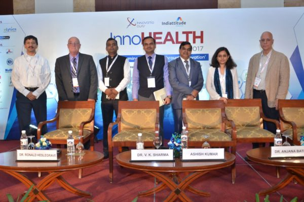 Group photo of session 5 panellists at InnoHEALTH 2017
