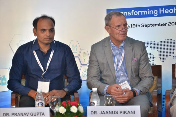 Dr Pranav Kumar Gupta and Dr Jaanus Pikani - panellists of session 4 at InnoHEALTH 2017
