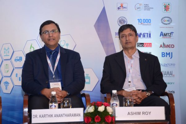 Karthik Anantharaman and Ashim Roy participate as panellists in session 3 at InnoHEALTH 2017