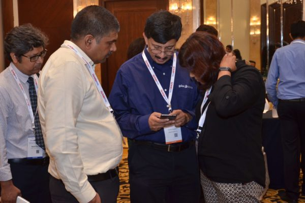 Sandipan Gangopadhyay and team Galaxe at B2B meeting of InnoHEALTH 2017