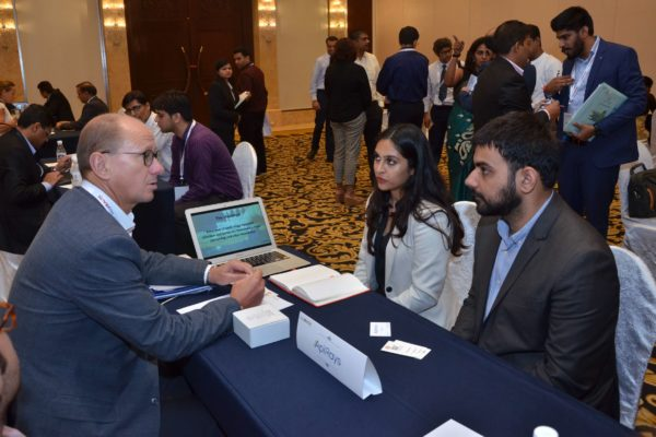 Jan Erik Hedborg of ApiRays interacting with Invest India representatives at B2B meeting of InnoHEALTH 2017