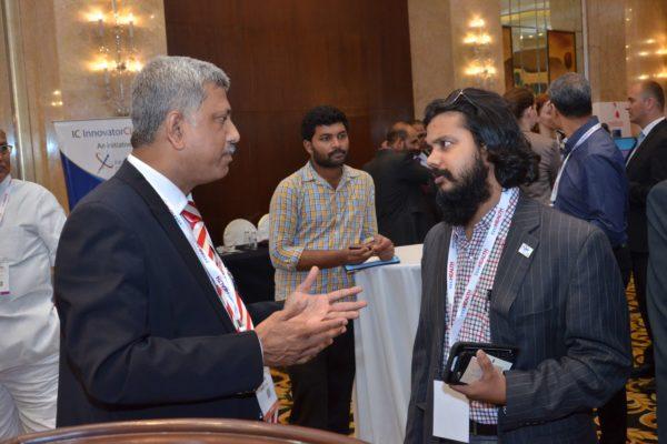 Partha Dey and Dr Dayaprasad G Kulkarni at B2B meeting of InnoHEALTH 2017