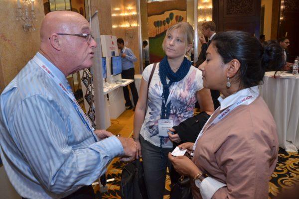 Ronald Heslegrave, Malin Hollmark and Shampa Bari at B2B meeting of InnoHEALTH 2017