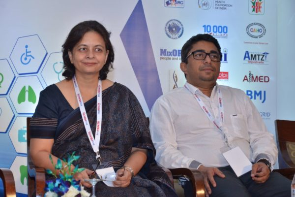 Dr Anjali Kaushik and Dr Sanjay Sharma - Panellists of session 8 at InnoHEALTH 2017