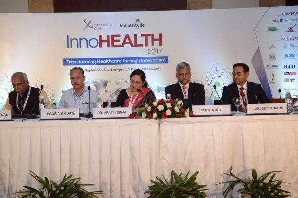 Speakers panel for session 1 at InnoHEALTH 2017