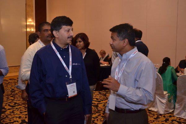 Sandipan Gangopadhyay and Dheeraj Misra from Galaxe at B2B meeting of InnoHEALTH 2017