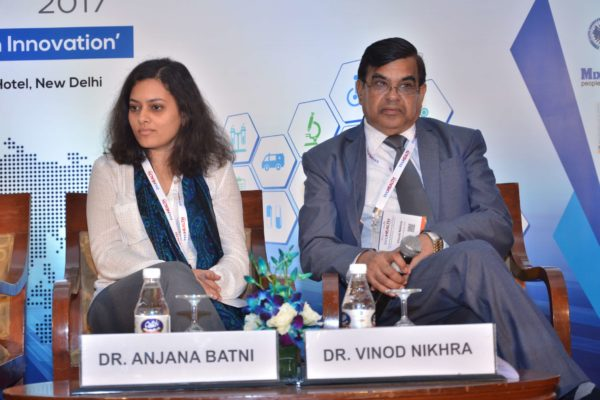 Dr Anjana Batni and Dr Vinod Nikhra in session 5 at InnoHEALTH 2017
