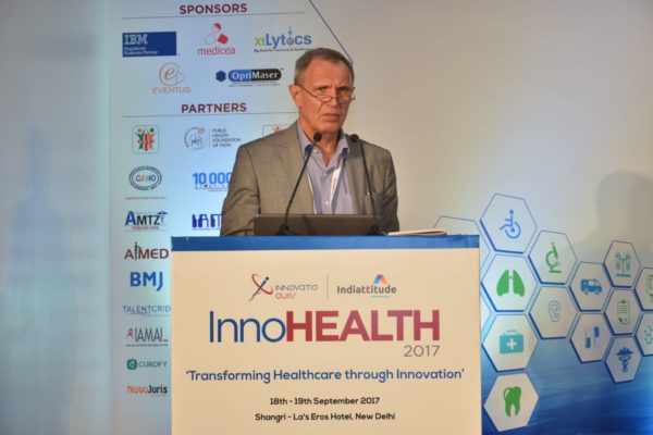 Dr Jaanus Pikani pitching Documental at InnoHEALTH 2017