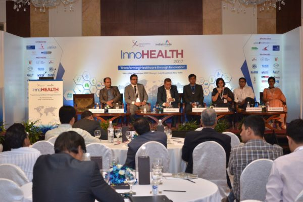 Session on Challenges & Redefining Healthcare Landscape in progress at InnoHEALTH 2017