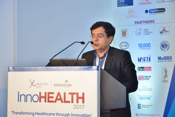 Dr Mukesh Taneja presenting his views in session 5 at InnoHEALTH 2017