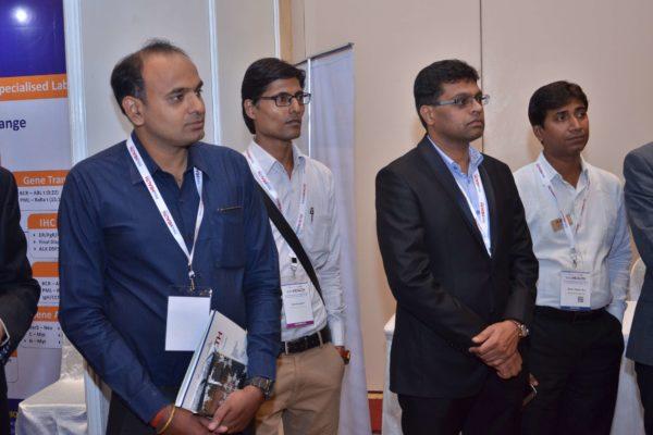 Dr Pranav Kumar Gupta, Pavan Asalapuram at the start of B2B neeting at InnoHEALTH 2017
