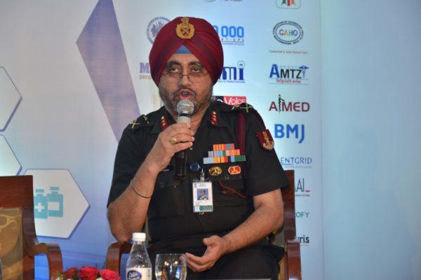 Maj Gen Jagtar Singh sharing his views on Public Health and Biotech at InnoHEALTH 2017