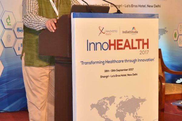 Prof. Rishikesha T Krishnan addressing the audience at InnoHEALTH 2017