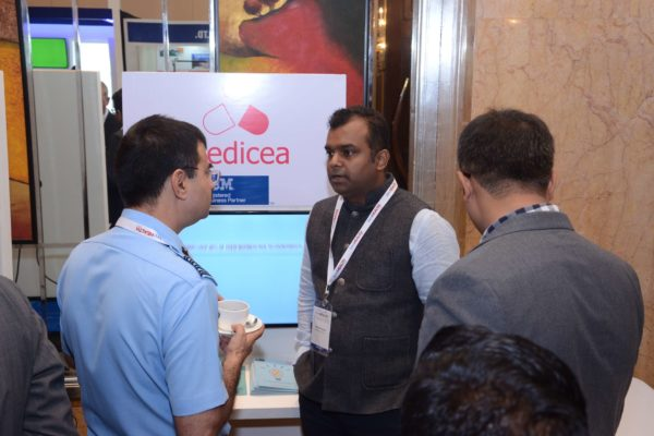Ashish Kumar from Medicea briefing attendees at InnoHEALTH 2017
