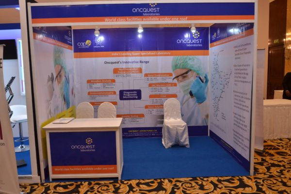 Oncquest laboraties booth at InnoHEALTH 2017